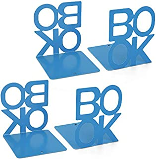 Magazine Holder Rack, Desktop File Sorter Book Rack Organizer (Blue)