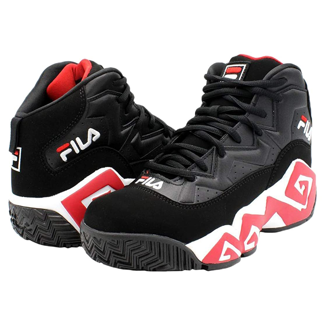 Fila Men's MB Leather Retro High-Top Basketball Trainers Shoes Sneakers znwyaiao0