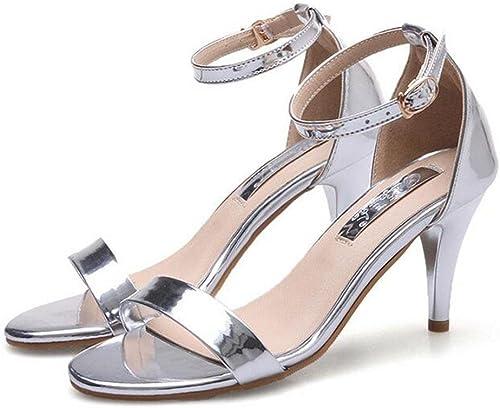 KUKI Sandales pour femmes autour du mot fuite orteils orteils stilettos, 2, US7.5 EU38 UK5.5 CN38  les derniers modèles