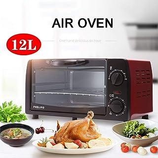 Horno doméstico, Mini horno tostador, Horno eléctrico doméstico multifuncional con apagado inteligente de 12L, Diseño de calefacción de 360 grados, La comida se calienta de manera uniforme, Compact