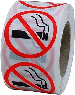 Hybsk Clear Vinyl No Smoking Logo Warning Stickers 1.5