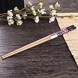 5 Paar Set Essstäbchen Japanische Natur Chopsticks aus umweltfreundlichem Bambus-Holz in edler Schatulle Geschenkbox(Cat) - 7