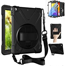 ZenRich New iPad 10.2 2019 Case, iPad 7th Generation Case with Screen Protector, Kickstand, Hand Strap and Shoulder Strap,...