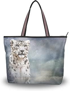 My Daily Women Tote Shoulder Bag Drawing Snow Leopard Handbag