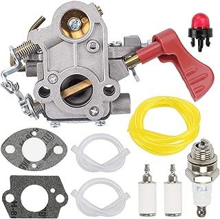 Fuel Li 545008042 545189502 Carburetor for Zama C1M-W44 Poulan Pro PP338PT PP033 PP133 PP333 Gas Trimmer 33cc Carb with Turn Up Kit