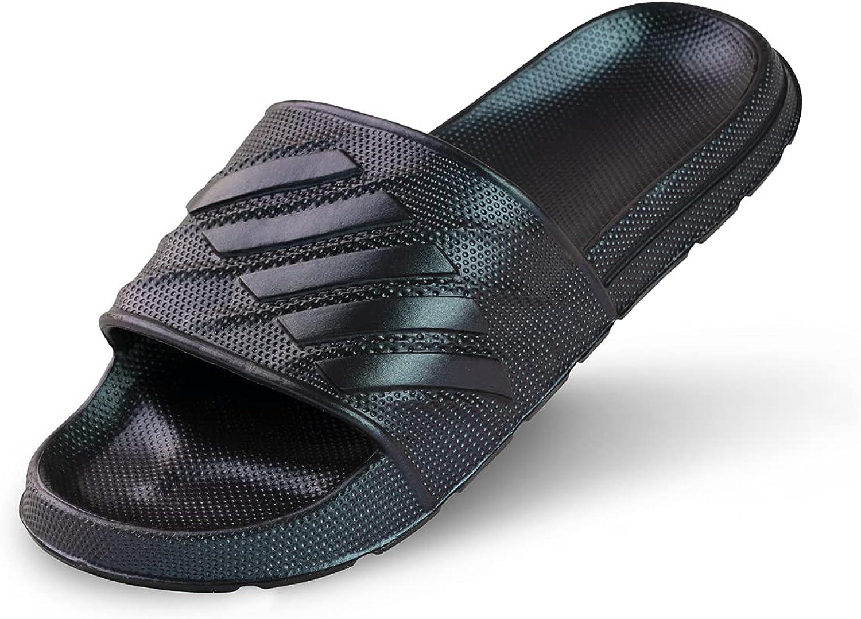 Brzhuad Men's Women's Slide Sandals-Unisex Bathroom Shower Slippers Beach Shoes-Outdoor Indoor Lightweight Sandals