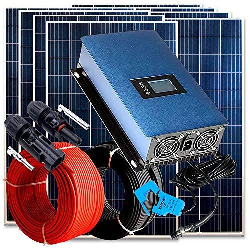 Kit Solar 3.000W Autoconsumo Vertido Cero Inyección a Red