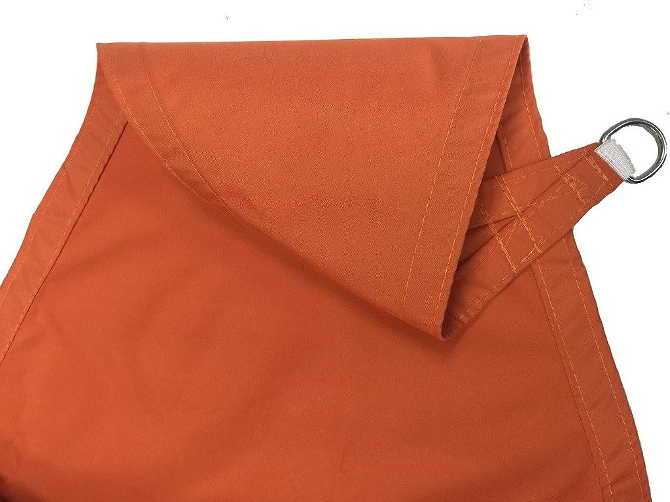 征服土地束ねるCaday 正三角形3.6mX3.6mX3.6mオレンジ日除けセイル(耐水性)- 紫外線98%カット ベランダ/中庭/プール/ガレージ用