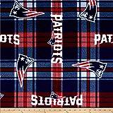 NFL New England Patriots Plaid Fleece Red/Blue,...