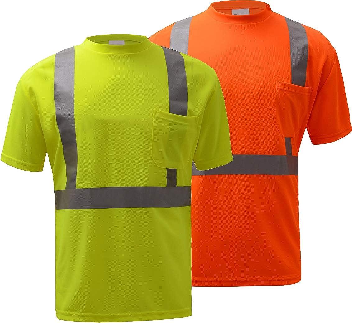Standard GSS shopping Safety Class 2 Moisture depot Sleeve Wicking Short