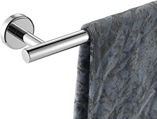 JQK Chrome Towel Bar, 9 Inch Stainless Steel Towel Rack Bathroom, Towel Holder Polished Finished Wall Mount, Total Length ...