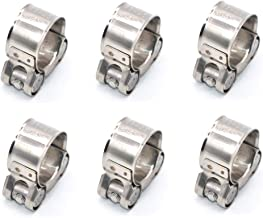 23mm-25mm T-Bolt Hose Clamp 6 Pack 304 Stainless Steel Bolt Hose Clamps for Hose Range Size 0.906-0.984