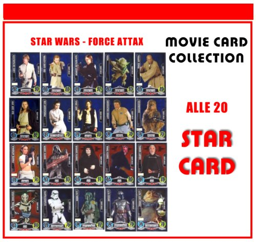 STAR WARS FORCE ATTAX SERIE 3 - Movie Card Collection - Deutsch - Alle 20 Star Card Karten