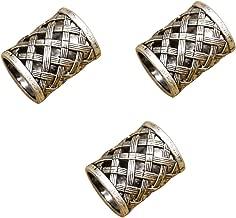 RechicGu Pack 3 Norse Viking Pirate 18mm Hole Beard Bead Dreadlocks Ring Braid Hair Dress Pin Set