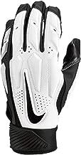 Nike Mens D-Tack 6 Lineman Gloves (Large, White/Black)