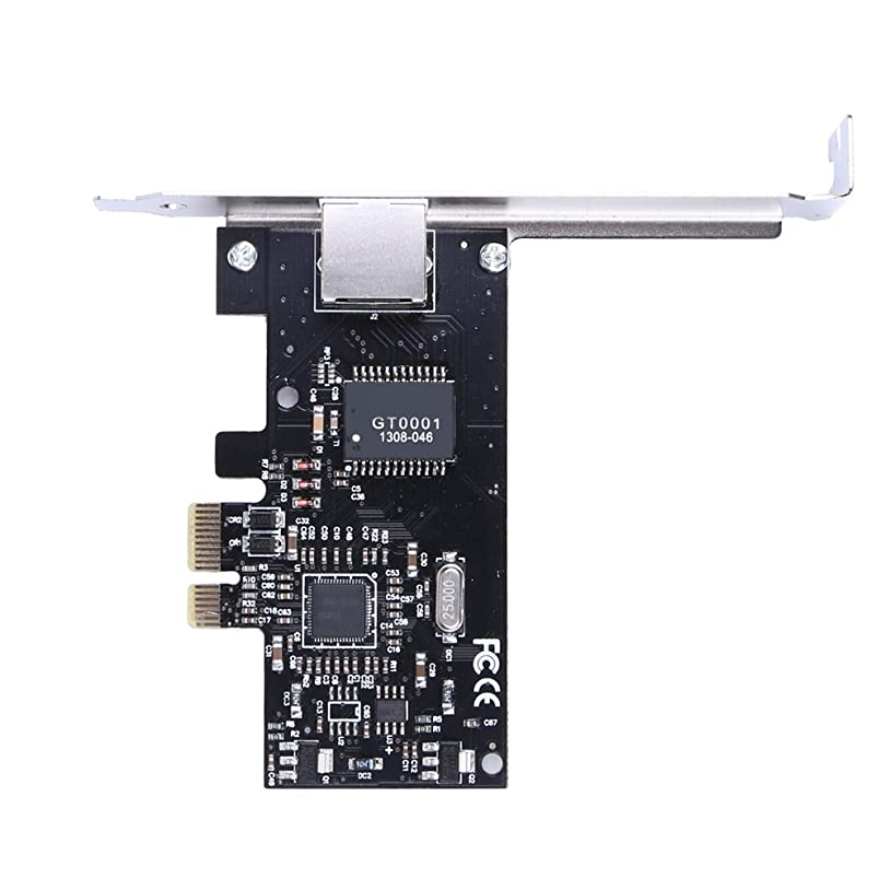 バング時横向きwinnereco PCI - E Express 10?/ 100?/ 1000?mギガビットイーサネットLANネットワークデスクトップコントローラアダプタコネクタ