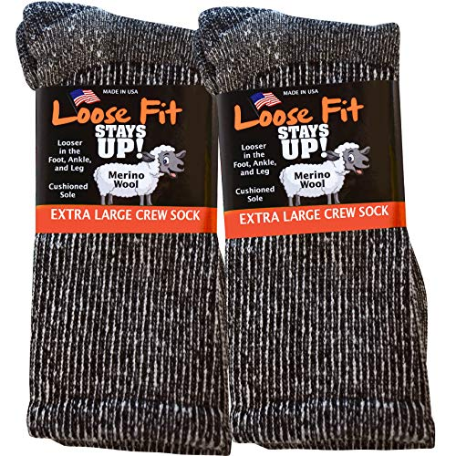 Loose Fit Stays Up Marled Merino Wool Men