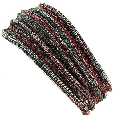 Guru-Shop Magic Hairband, Dread Wrap, Schlauchschal, Stirnband, Herren/Damen, Haarband Olive Melliert, Baumwolle, Size:One Size, Stirnbänder Alternative Bekleidung