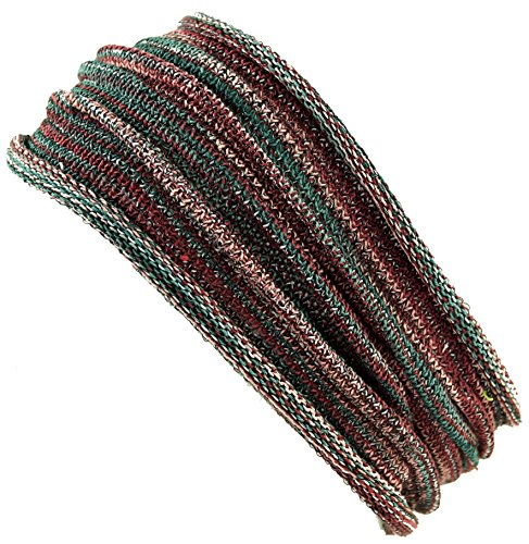 Guru-Shop Magic Hairband, Dread Wrap, Schlauchschal, Stirnband, Herren/Damen, Haarband Olive Melliert, Baumwolle, Size:One Size, Stirnbänder Alternative Bekleidung