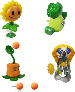Action Figures for 3 Year Up Kids Pop Mobile Game Characters Plants vs Zombies Shooting Game Toy Set with Sunflower Bonk C...