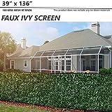 BOUYA 39' x 136' Fence Screen Faux Ivy Privacy...