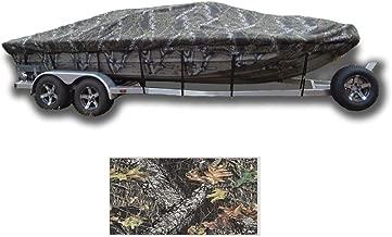 SBU-CV 8 oz Camouflage Mossy Oak Break UP Boat Cover for Lowe 1667 WT Utility V 2015-2016