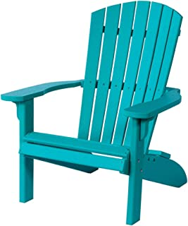 Poly Fan-Back Adirondack Chair, Turquoise