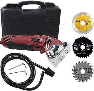 TOPQSC Mini cirkelsåg 400 W, multifunktionellt högdriven elektrisk kompakt cirkelsågmaskin träbearbetningsverktyg skärblad...
