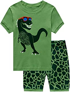 Baby Toddler Boys Girls Summer Outfits Clothes for 1-7 Years Old Kids Dinosaur Tops T-Shirt Tee Short Pants Set