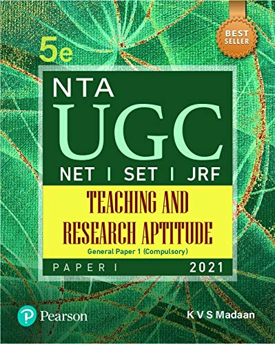 NTA UGC NET/ SET/ JRF : Paper 1 Teaching and Research Aptitude | Fifth Edition | By Pearson