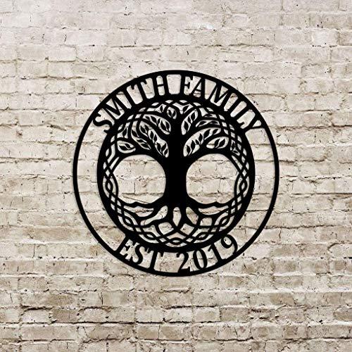 Customized Celtic Tree of Life Door Hanger/Wreath, Wall Art