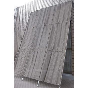 洋風たてす約W200×H270cm ダークブラウン色 サンシェードタテス9尺 日除けよしず