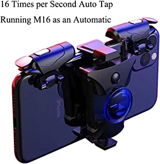 PUBG Mobile Controller, 16 Shots per Second Auto High Frequency Click Mobile Gaming Controllers for PUBG/Fortnite/Rules of Survival Gaming Grip and Gaming Joysticks for Android iOS Phone