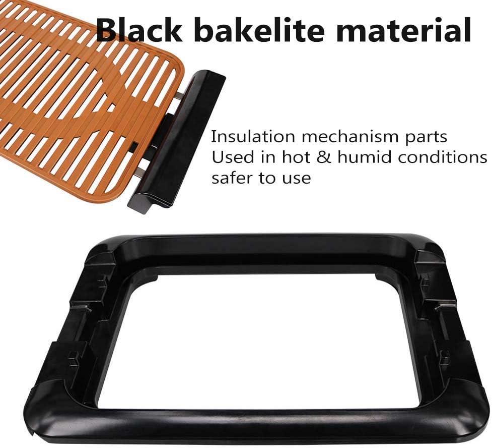 CCLLA Polyvalent BBQ Portable intérieur Gril extérieur sans fumée Non-Stick électrique-Griddles, Surface en céramique Amovible Lavable, Noir Gold