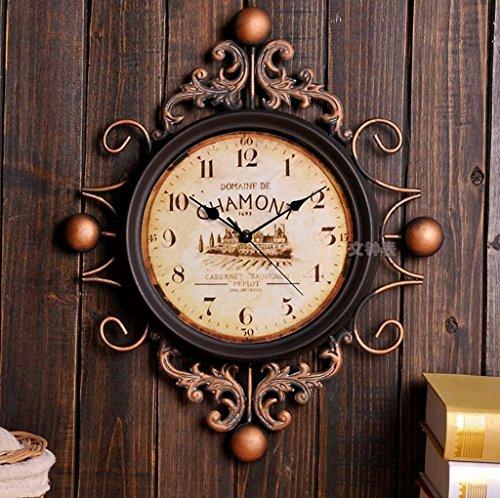 Bonne action Horloge murale Horloge Européenne Art Mouvement Florence Drago Canna Style Horloge Murale Rétro Horloge Décorative
