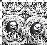 Gekreuzte Knochen, Totenköpfe, Knochen, Viktorianisch,