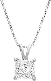 2.50 ct Pear Cut 14K Solid Rose Gold VVS1//D Solitaire Pendant Necklace