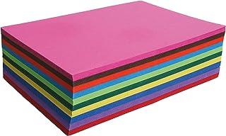 Clairefontaine 454199C - Paquet de 100 Feuilles de Papier Cartonné Couleur 210g/m² - Format A4 (21x29,7cm) - 10 Couleurs A...