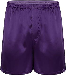 Alvivi Men's Shiny Satin Lounge Loose Shorts Sleepwear Pajamas Smooth Nightwear Short Pants