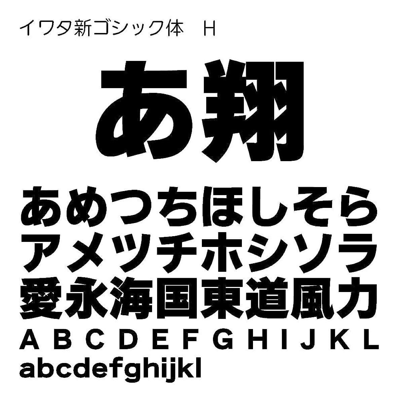 急襲無謀戦術イワタ新ゴシック体H Std OpenType Font for Windows [ダウンロード]