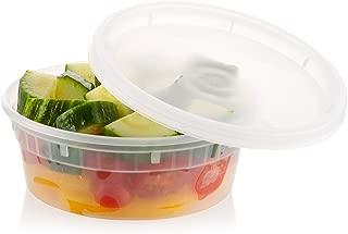 ZEML 8 oz. Deli Food Storage Containers With Leak-proof Lids - 24 Sets