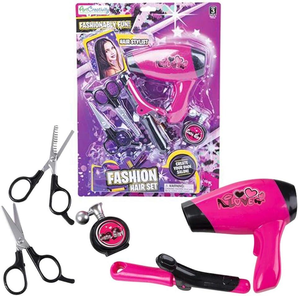 ArtCreativity Hair Stylist OFFer Opening large release sale Set for Beauty Pretend Girls P Salon