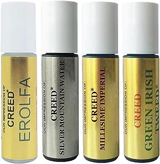 Premium Perfume Oil IMPRESSION of Creed: 4 Piece Bundle Set of Erolfa Oil, Silver Mountain Water Oil, Imperial Oil, Green ...