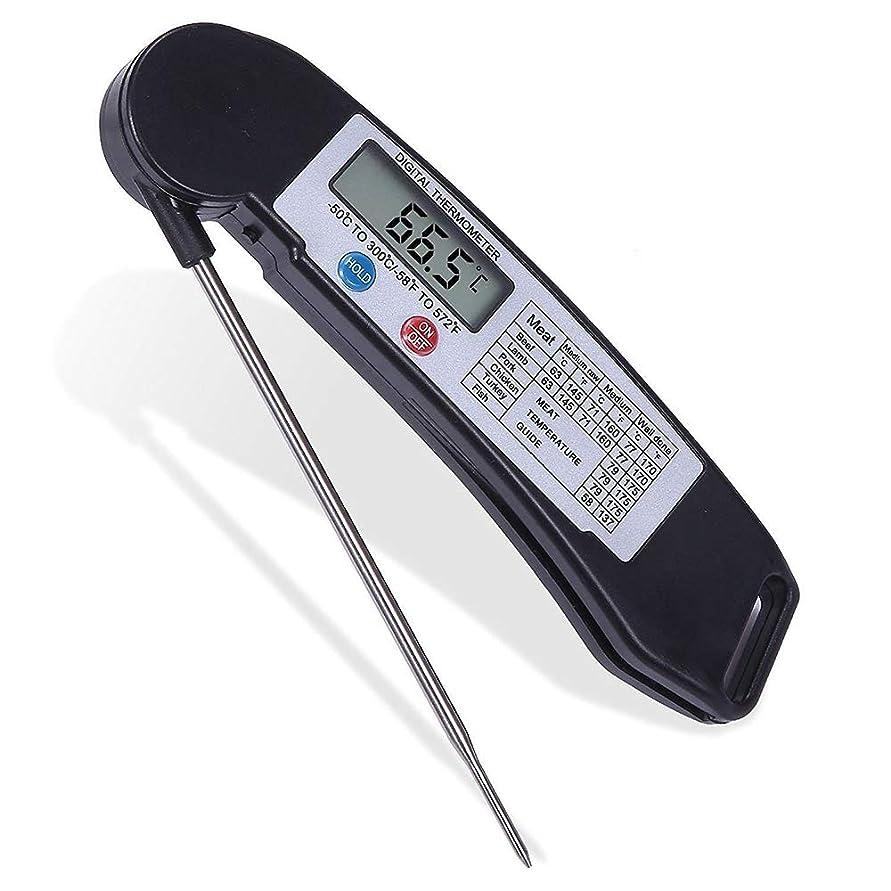 こっそり迅速吸収剤肉/シュガー/キッチン/BBQ用温度計、デジタルインスタント読む食品温度計、折り畳み式のプローブと大画面キャンディ温度計を、料理