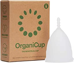 OrganiCup Menstrual Cup - Size B/Large - Rated #1 in Menstrual Cups - FDA Registered - Soft, Flexible, Reusable Medical-Grade Silicone