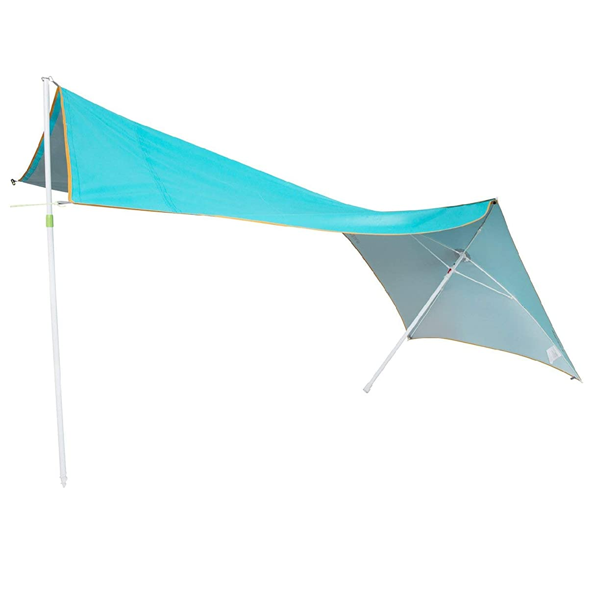 #WEJOY Beach Umbrella 2-3 Person Multi-Function Sun Shelter UV Protection Canopy Quick Cabana Sail Tent with Sand Anchor, Easy Set up Carry Bag Included