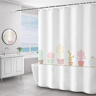 Espesar Cortina de Ducha Impermeable a Prueba de Moho Independiente magnética Cortina de Ducha de baño Decoración (Size : ...