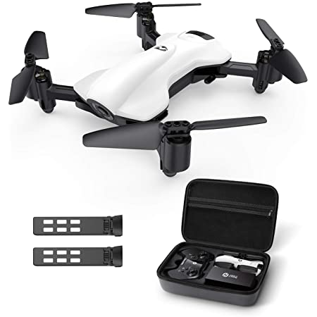 Holy Stone ドローン 2Kカメラ付き GPS搭載 折り畳み式 200g未満 飛行時間30分 収納ケース付き 小型 バッテリー2個フォローミーモード ウェイポイントモード 高度維持 モード1/2自由転換可 国内認証済み HS165-2K(ホワイト)