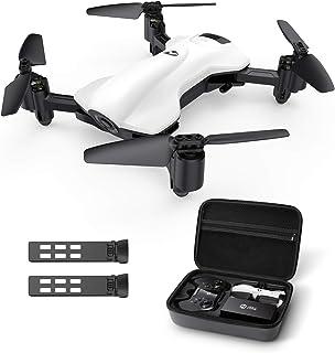 Holy Stone ドローン 2Kカメラ付き GPS搭載 折り畳み式 200g以下 飛行時間30分 収納ケース付き 小型 バッテリー2個フォローミーモード ウェイポイントモード 高度維持 モード1/2自由転換可 国内認証済み HS165-2K...