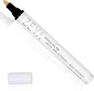ZEVA Cuticle Oil Pen – Vegan Nail Strengthener Pencil w/Natural Oils & Vitamins for Soft Moisturized Nails & Cuticles – Pedicure to-Go for Men & Women - Made in The USA